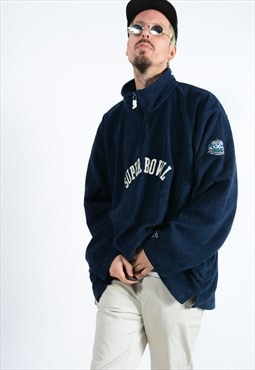 Vintage Reebok NFL 1/4 zip fleece navy super bowl.