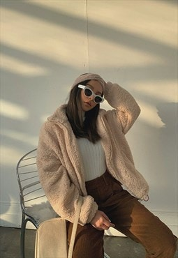Furry Faux Wool Jacket