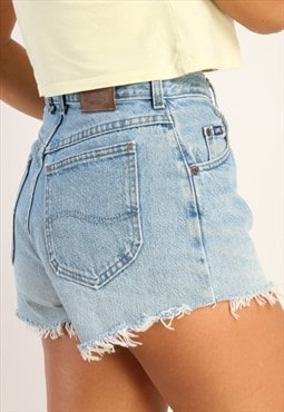 Vintage Lee high waisted reworked denim shorts Z85