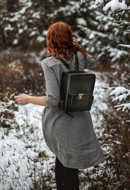 TITO - Vintage Style Rigid Backpack Black