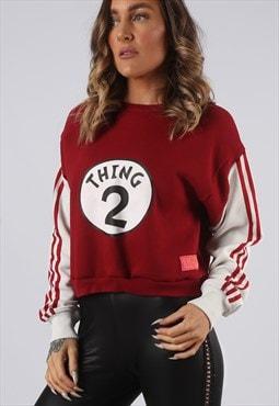 Cropped Sweatshirt ADIDAS Oversized Top BICH UK 6-8 (KEU)