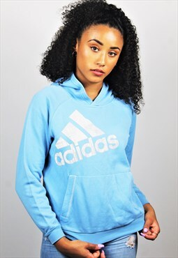 Retro / 90's / ADIDAS / Light Blue Hoodie