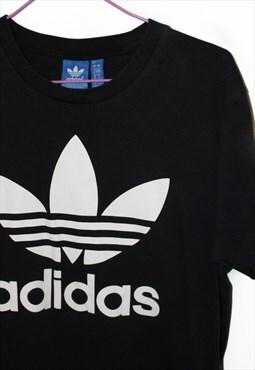 Adidas t shirt black white short sleeved size small sports