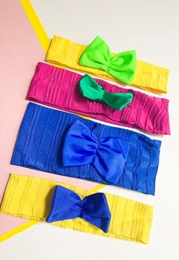 Lycra Rib Headband with Bow