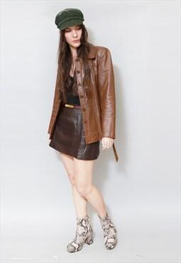 Vintage 1970's Caramel Brown Leather Jacket