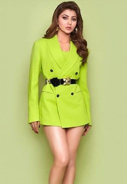 FKNS Neon Green Blazer Dress