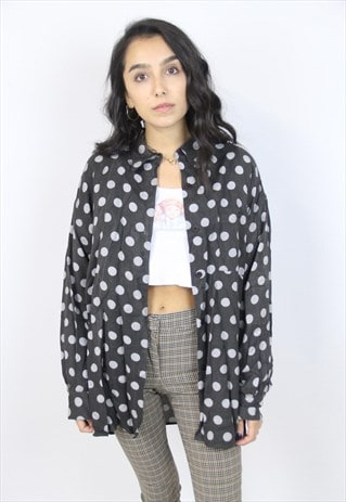 VINTAGE 90'S POLKA DOT PATTERN SHIRT