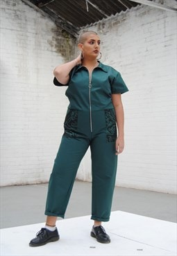 Boiler Suit- Green Ivy