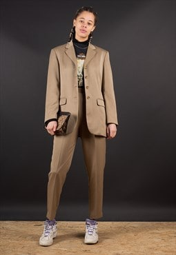 Brown 90's  Two Piece Set - Blazer and Trousers- by Benetton