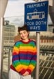 Fairtrade Handknitted Rainbow Striped Jumper