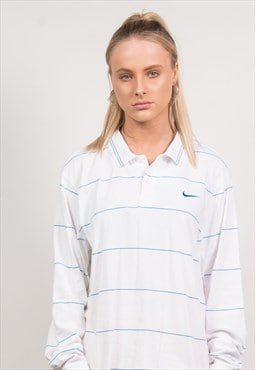 Nike Vintage 90's Striped Polo T-Shirt