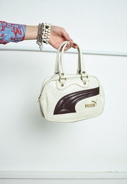 Y2K retro PUMA leather mini handbag
