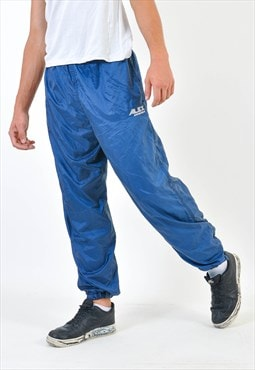 Vintage shell joggers in blue