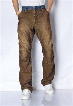 Y2K Brown G-Star Corduroy Pants