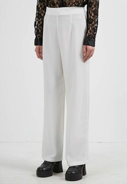 Vintage White SADIE Trousers Bottoms