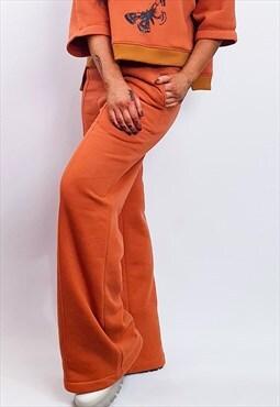 Tribute Seven-Wide Leg Sweatpants/ Orange