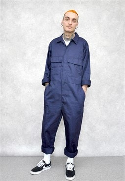 Navy Blue Overall Boiler Suit