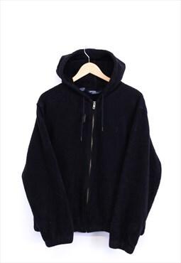 Vintage Ralph Lauren Zip Up Fleece Hoodie / Adjustable Hood