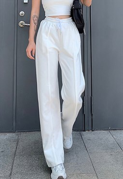 Miillow casual drawstring trousers in white