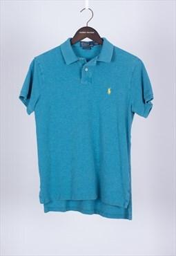 Vintage 90s Blue Short Sleeved Polo Ralph Lauren