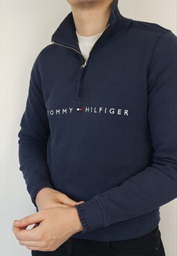 Tommy Hilfiger - Navy Quarter Zip Sweatshirt (L)