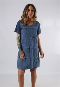 Vintage Denim Dress BICH REWORKED Dungarees UK 8 - 10 (DDB)