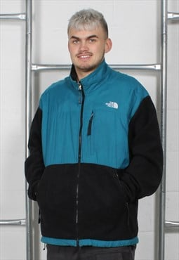 Vintage The North Face Fleece Jacket in Black and Blue XL