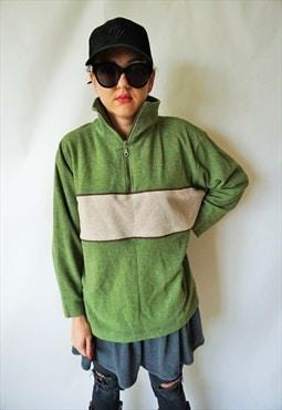 Vintage Fleece Jumper Pullover Sweater Sweatshirt Run Jacket