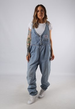 Vintage Denim Dungarees Wide Tapered Leg UK 16 XL (E4L)