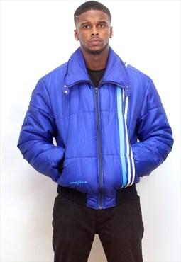 GOOD YEAR 1990's vintage blue Puffa bomber jacket