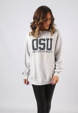 Sweatshirt Jumper Oversized Logo OHIO University UK 16 (CWBC