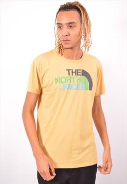 Vintage The North Face T-Shirt Top Yellow