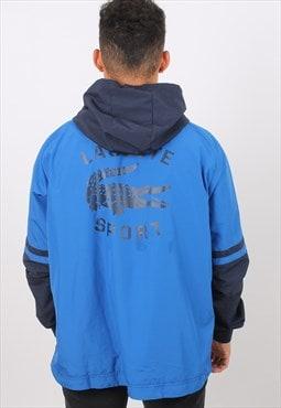 Vintage Lacoste XL Blue Embroidered Logo Lightweight Jacket