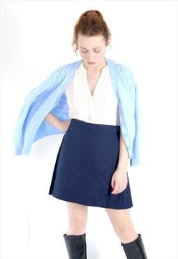 VIntage 90s navy blue pleated skirt