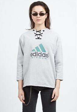Vintage White ADIDAS Logo Pullover Sweatshirt