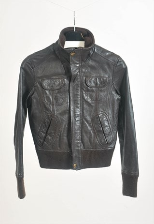 Vintage 90s real leather jacket