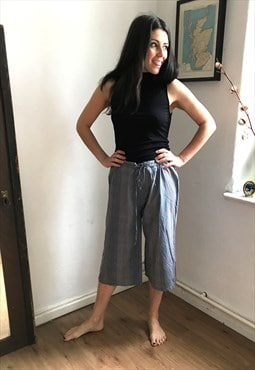 Vintage Esprit Cropped Gingham Trousers
