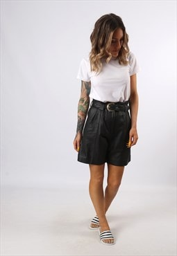 High Waisted Leather Shorts Bohemian UK 8 - 10 (K7CM)