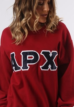 Sweatshirt Jumper Oversized APX Print Logo UK 14  (HG3F)