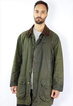 Vintage Barbour Wax Jacket / Barbour Border