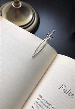 Solid 925 Sterling Silver SWORD Bookmark