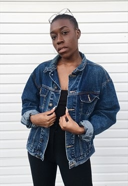 Super cool unisex blue denim jacket