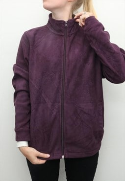 Woolrich - Purple Zip Up Fleece Jumper - Large