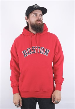 Vintage Red Boston Hoodie