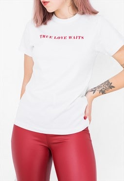 True Love Waits Red On White Radiohead Burgundy Unisex hirt
