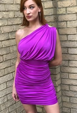 Purple Pink Bodycon 90s / y2k Party Dress