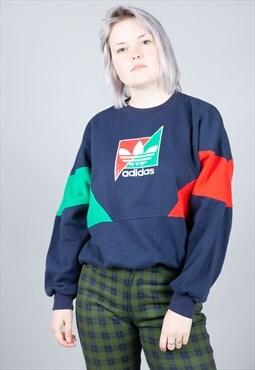 e65a6729d9af Vintage Adidas Crewneck Batwing Sleeves Sweatshirt