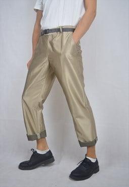 Vintage 80's gold regular rave trousers