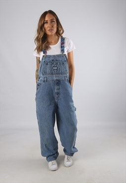 Vintage Denim Dungarees BICH REWORKED UK 12 M  (9AN)