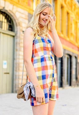 Vintage-inspired Plaid Dress